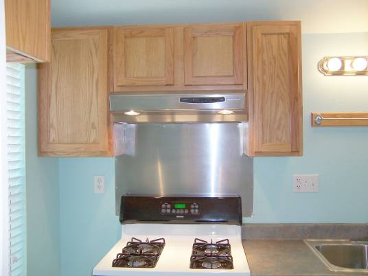 Stainless Steel Backsplash Behind Stove Is Easy To Clean No Peeling Paint Or Need For