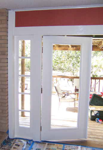 Outswing French Door During Installation