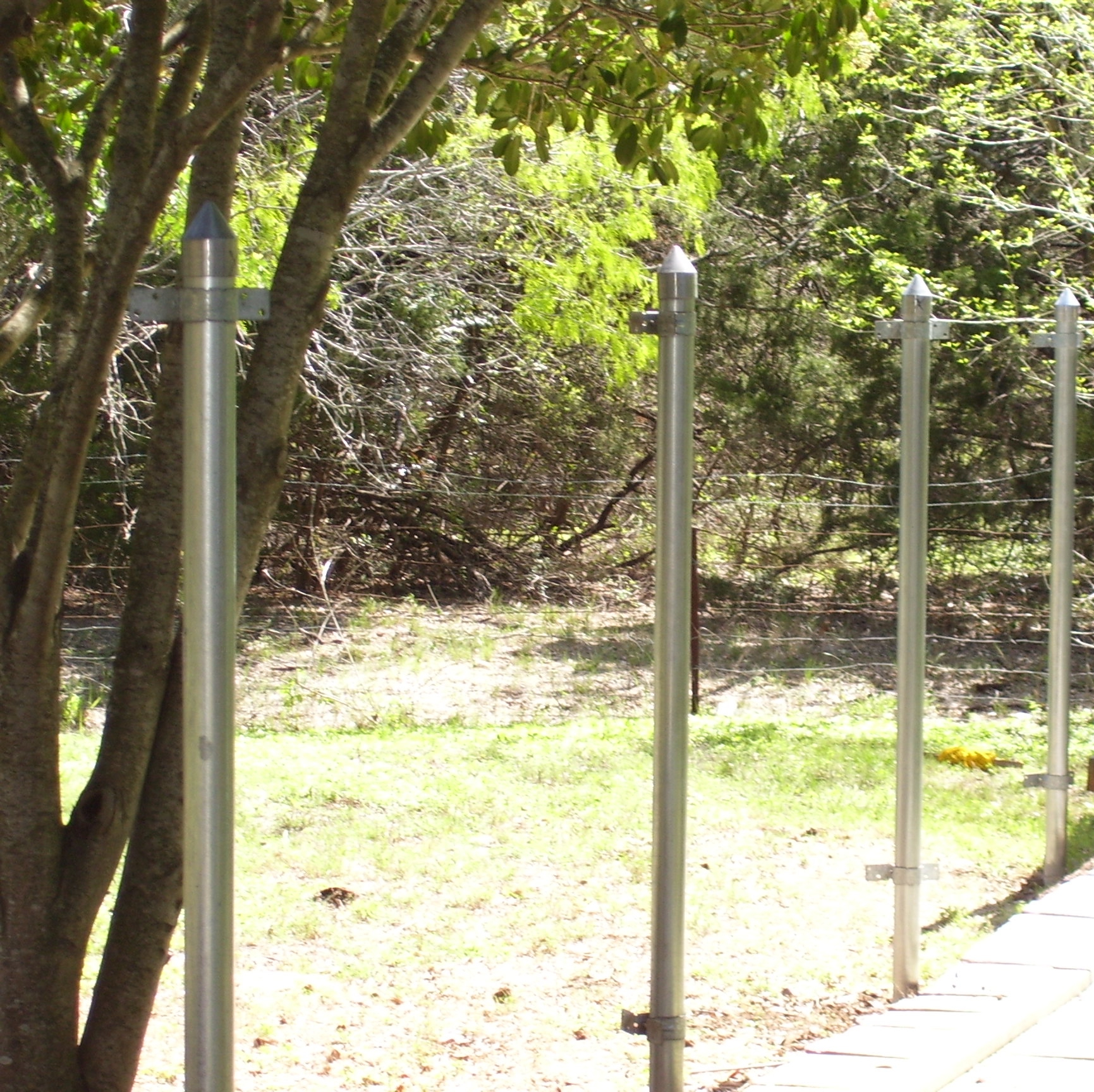 Amazing photo of STEEL POST WOOD FENCE HOW TO MAKE FENCE with #92A328 color and 1731x1728 pixels