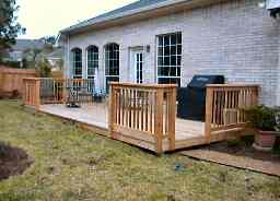 Picture of cedar deck we built